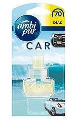 Idea Regalo - Ambi Pur Car Deodorante per Auto Acqua Freschezza Naturale Ricarica 7ml