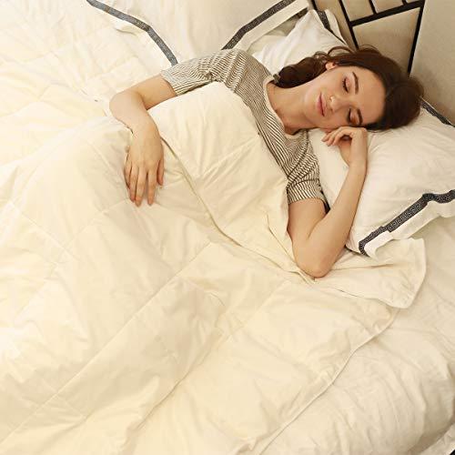 JL Home Collection 100% Seide Tröster All Season Luxus Seide Bettdecke mit Baumwolle, Maschinenwaschbar Twin Weiß (Twin Bettdecke 100 Baumwolle)