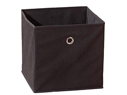 Inter Link 99200270 Regalbox Regalkorb Aufbewahrungsbox Schrankbox Box Würfel faltbar Regal schwarz -