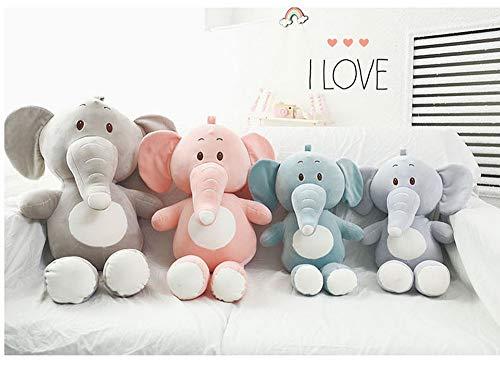 YEARYOWN 80cm Riesen Elefant Kuscheltier Plüsch Stofftiere Geschenke für Kinder Freundin,Gray,80cm