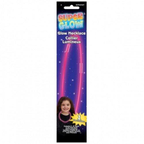 Amscan International 311003-06Für Glow Stick Halskette, Rosa (Glow Einladungen Geburtstag)