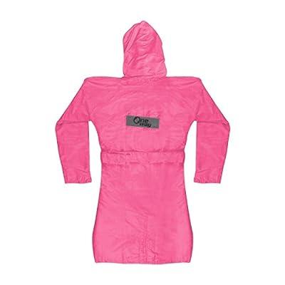 Mayatra's Trendy Light Pink Ladies Rain Jacket with Belt