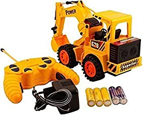higadget Remote Controlled Battery Operated Jcb Truck (Multicolour)