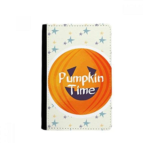 beatChong Halloween Runde Kürbis-Muster-Pass-Halter-Reise-Brieftasche Abdeckungs-Fall Karten-Geldbeutel