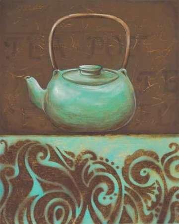 Fusion Scrolls (Tea Fusion II Von Osborne, Susan Kunstdruck auf Leinwand - Klein (47 x 60 cms ))