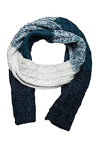 Mountain Warehouse Vienna Womens Scarf - Warm, Soft & Anti-Pill Fabric with Versatile Style & Comfortable Two Tone Loose Knit Construction - Perfect for Chiller Months Blue