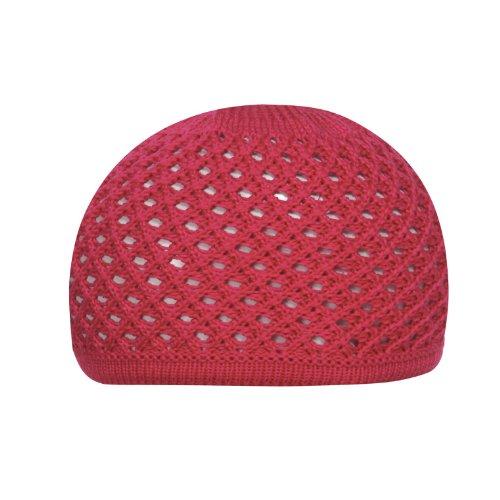 d-generation Döll Mädchen Mütze Strick-Topfmütze 1418750119, Einfarbig, Gr. One size (Herstellergröße: 49), Rosa (raspberry pink 2137)
