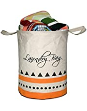 A&A Bags Multipurpose Round Shape Foldable Laundry Bag for Clothes with Carry Handle
