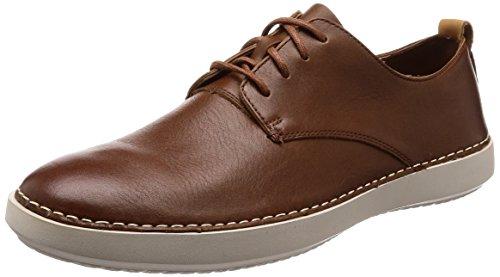 Clarks Komuter Walk, Zapatos de Cordones Derby para Hombre, Marrón (British Tan Lea), 40 EU
