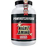 NIGHT AMINO - HOCHDOSIERT - Nachtaminosäuren L-ARGININ, L-ORNITHIN & L-LYSIN in freier kristalliner Form + Vitaminkomplex - 180 Kapseln - MADE IN GERMANY