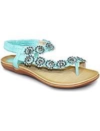 760487ecaf4e Amazon.co.uk  Turquoise - Flip Flops   Thongs   Women s Shoes  Shoes ...