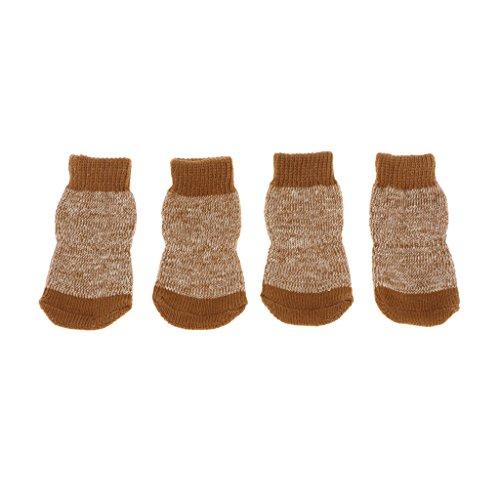 Hund Großen Harten Bett (Homyl Anti-Rutsch-Haustier Hund Socken Schuhe Warme Weiche Baumwolle Socken Pfote Beschützer - M)