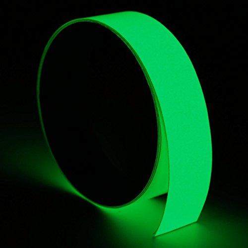 3mx12/15/20/30/40/5/100mm Luminous reflektierendes Klebeband Glow in The Dark Tape Fluoreszierendes Klebeband Selbstklebend Glowing in The Dark Sicherheit Stage Home Decor, 20mmx3m