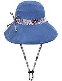 Capeline Mujer Niña Sombrero de sol gorra visera UPF50 verano primavera  sombrero plegable sombrero de cubo 659a6739487