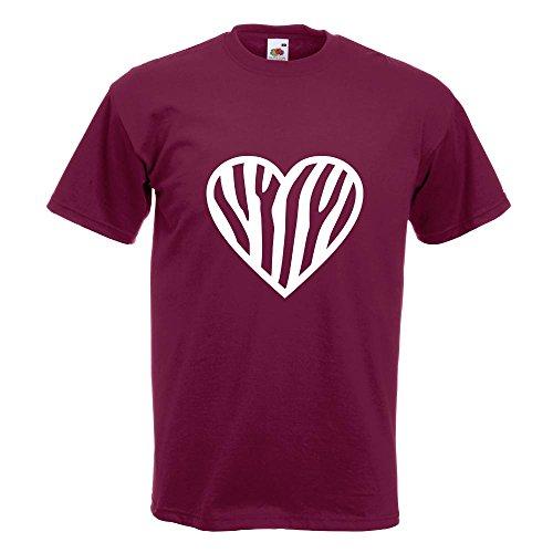 KIWISTAR - Zebra T-Shirt in 15 verschiedenen Farben - Herren Funshirt bedruckt Design Sprüche Spruch Motive Oberteil Baumwolle Print Größe S M L XL XXL Burgund
