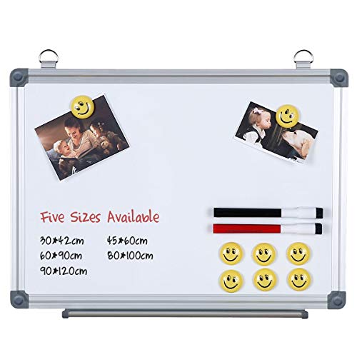 Magnetisches Whiteboard Dry Erase Boards With Aluminium Frame 6 Sizes to Choose From (45 * 60) ()