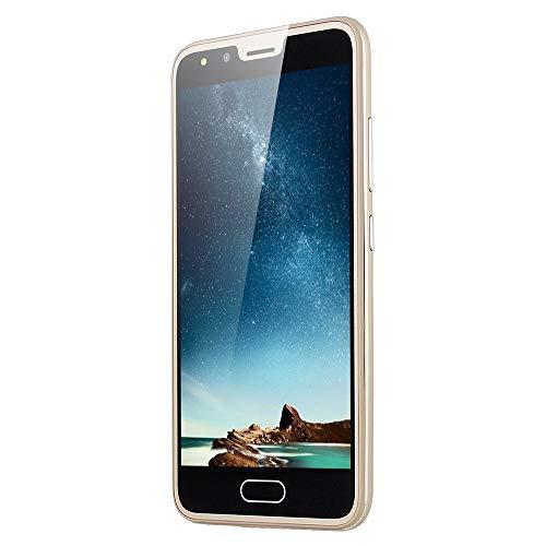Fulltime E-Gadget P20 Smartphone 5,0 Zoll Dual HD Kamera Smartphone Android 4 GB,512 MB RAM + 4 GB ROM, 2.0MP + 2.0MP, Dual-SIM, Dolby Atmos Handy (Gold)
