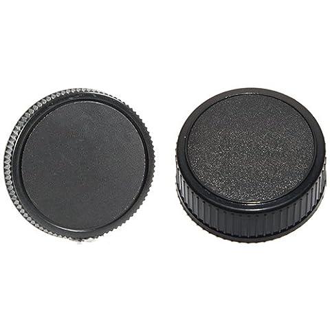 Phot-R LF-4 Dirt Dust Lens protection arrière Cap + BF-1B Cap Body Kit - Compatible avec les lentilles Nikon F montage et Nikon DSLR