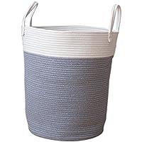 Homyl Cestas de Almacenamiento de Cuerda de Algodón Organizador de Juguete Infantil/Ropa Sucia - Gris L