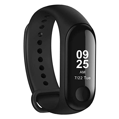 Xiaomi Mi Band 3 - Activity tracker mit Herzfrequenzmessung [EU Version], 0.78'' full OLED Touchscreen, Benachrichtigungen in Echtzeit,  wasserdicht 50m, Schrittzähler, Kalorienzähler, Schlafanalyse (9-uhr-band)