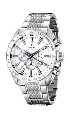 Reloj de caballero FESTINA F16488/1 de cuarzo, correa de acero inoxidable color plata de Festina