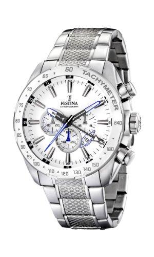 Festina Herren-Armbanduhr XL Chronograph Edelstahl F16488/1