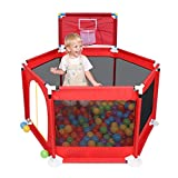 Kinderheim Indoor- und Outdoor-Playpen Versatile Spielraum sichern Game Center Yard spielen (Color : Red)