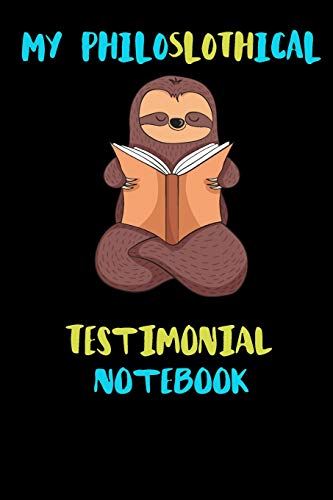 stimonial Notebook: Blank Lined Notebook Journal Gift Idea For (Lazy) Sloth Spirit Animal Lovers ()