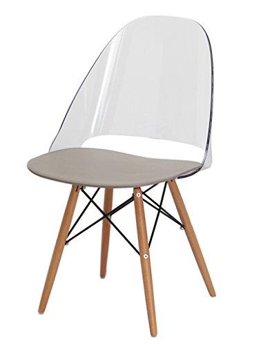 Set 2 Stühle Mit Beinen Aus Buchenholz Ultra Robust Und Stabil Design By  Ludovico Bernardi U2013 Annie Durchsichtig U2013 Smash G8.de