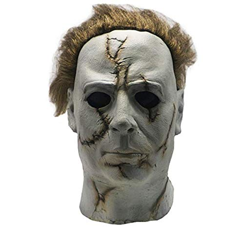 FUGUI Michael Myers Masken Karneval Kostüm Halloween (Narbe)