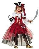 Krause & Sohn Kinderkostüm Piratin Piratenbraut Verkleidung Kleid Fasching Karneval Seeräuberin (140)