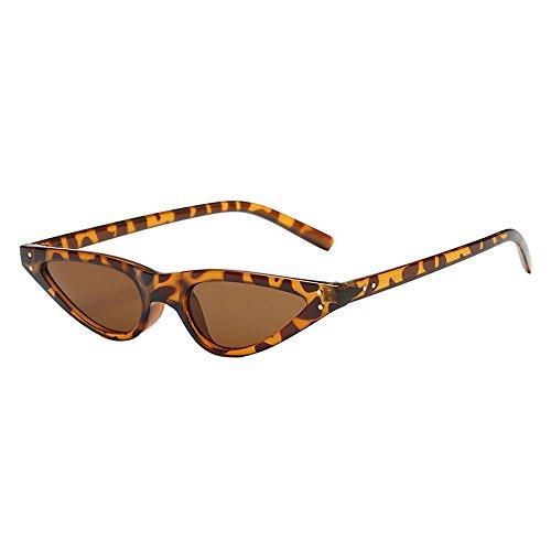 Occhiali da sole topgrowth retro unisex bicchieri per driver guida triangle donna occhio di gatto vintage sunglasses cat eye uv400 (b)