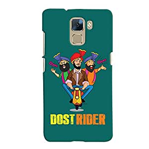 ColourCrust Huawei Honor 7 / Dual Sim / Enhanced Edition Mobile Phone Back Cover With Dost Rider Quirky - Durable Matte Finish Hard Plastic Slim Case