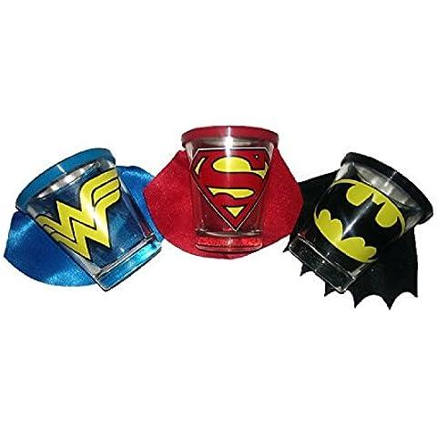 Superhero Shot Glass Set by DC (Superman Shot Glass)