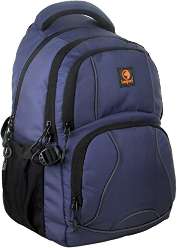 Lampart-Aster-Casual-Backpack-School-Bag-30-liters-capacity-with-smart-design-Navy-Blue
