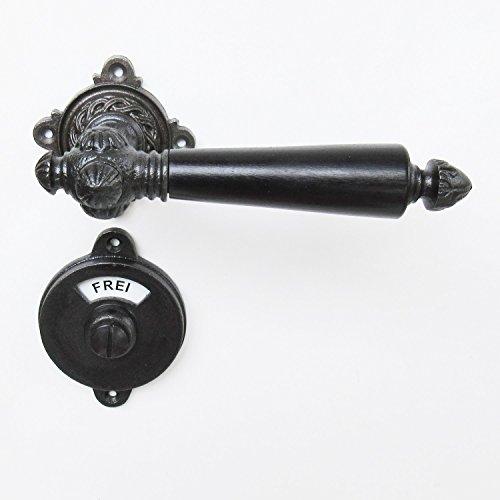 Bad WC Türklinken Gusseisen antik mit Frei-Besetzt #3-GWC-GE