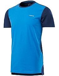 Head Transition S/S Camiseta Deporte, Hombre, Blue/Navy, M