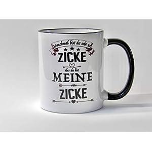 Freundin Geschenk Tasse Du bist meine Zicke Kaffee Geschenk Tasse für Freundin mit frechen Spruch Liebe Streit vertragen…