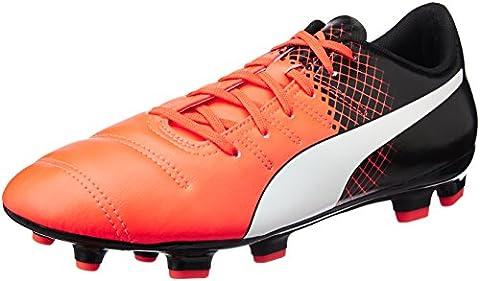 Puma EP 4.3 FG F6, Men's Football Boots, Black (Blk/Wht/Red),