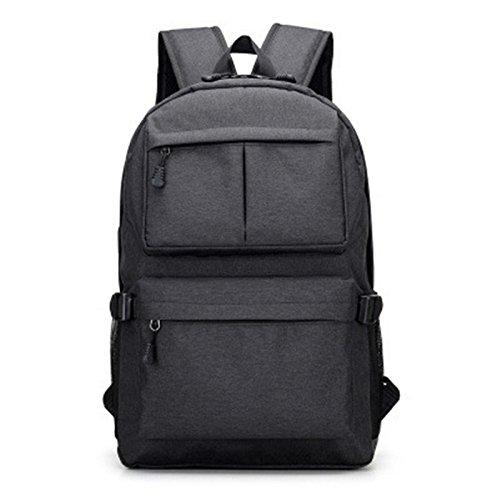 Borse di libro Design unisex zaino per scuola zaino zaino Casual Daypack Oxford tela zaini moda uomo black