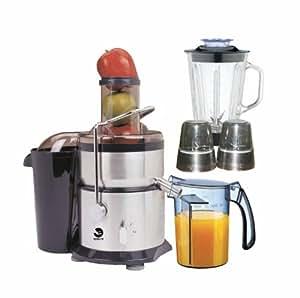 Robusta - Tutti frutti Inox - Centrifugeuse 4 en 1 - Blender - Broyeur - Hachoir -800 W - Capacités 1500 ML - Rotation 23.000 tours/minute - Vitesses : 0.1.2