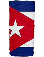 Cuba Flag Multifunción Braga de Cuello Protección UV Tubular