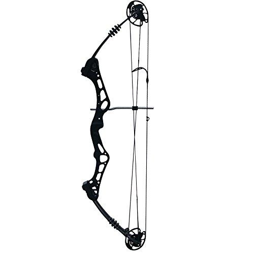 Compound Bogen Bogenschießen einstellbar 50-60lbs für Outdoor Jagd Target Shooting Angeln Sport Spiele Aluminium Alloy Bow (Schwarz)