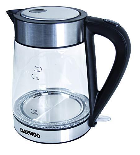 Daewoo SYM-1328 Wasserkocher aus Glas, 2000 W