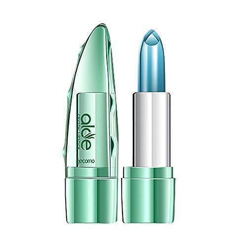 LEXUPE Rouge à lèvres Bio Aloe Vera Jelly Changement de Couleur pour Les lèvres hydratantes Pas Cher (Couleur)