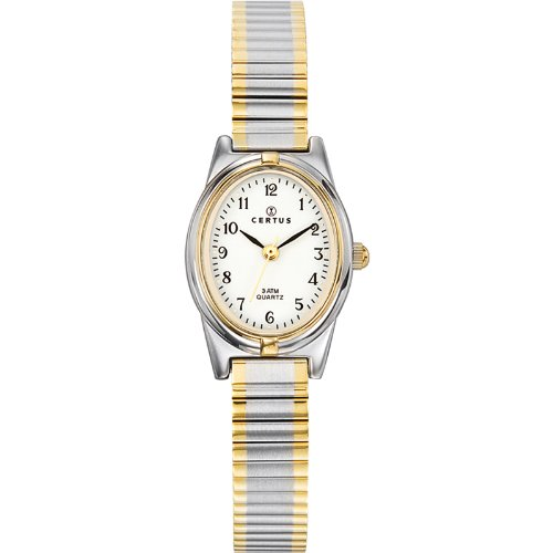 Certus 642385 – Ladies Watch – Analogue Quartz – White Dial – Two-Tone Metal Bracelet