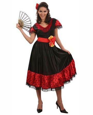 KBO 83622 Damen-Kostüm Flamenco,Größe 40-42 (Rassig Kostüme)
