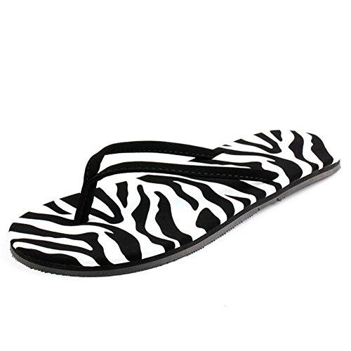 Ladies piatta infradito/Estate Pantofole Leopard slittamento/Ciabatte da spiaggia per il tempo libero B
