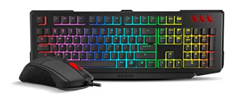 Ozone Gaming Double Tap Es - Kit Teclado & ratón, Color Negro