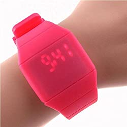 Fulltime(TM) Children Silicone Digital LED Touch Sports Silicone Bracelet Wrist Watch